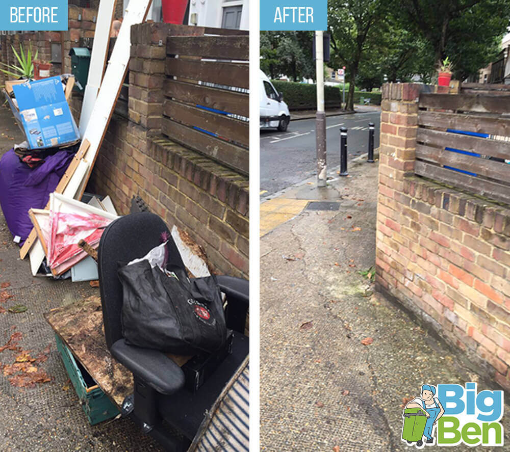 Before-After Rubbish Clearance London