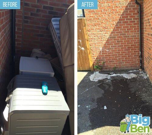 removal of garden waste E14