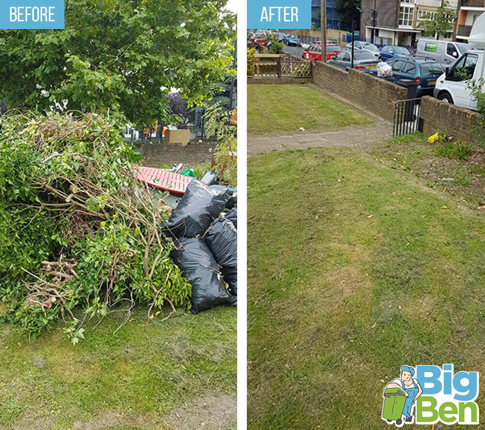 removal of garden waste LU1