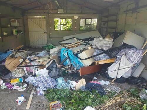domestic rubbish pick up Coombe