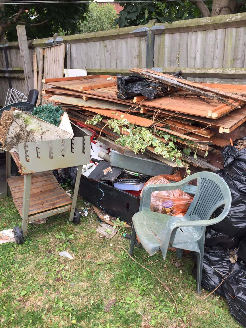 domestic rubbish pick up Coombe